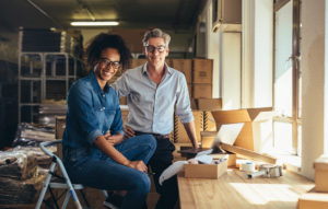 Small business partners excited about their SBA bonds